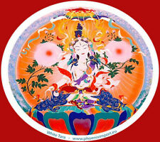 Mandala Arts Window Sticker: White Tara 1 Sided
