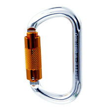 25kN Oval Twist Lock Carabiner for Pulley Prusik System Srt Ddrt Climbing Caving
