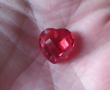 SUPERBE SAPHIR VERNEUIL COEUR PADPARADSCHA 15x15 mm.IF 15,39cts