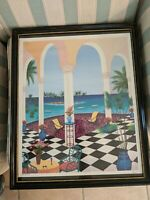 """Fanch Ledan ~ Limited Edition Lithograph Signed & Numbered. """" Living The Life"""""""