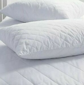 Quilted Pillow Luxury Super Firm Deluxe Hollowfibre Filled Comfortable Pillows