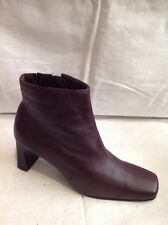 Bhs Maroon Ankle Leather Boots Size 5