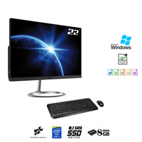 "PC All in one 22""Intel i5,Ram 8Gb ,Ssd M.2 256Gb,Wifi,Windows 10 PRO,Pc desktop"