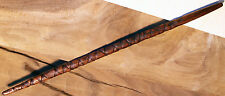 "1 Wood Magic Wand ~ Rare Mahogany #4 ~ 15"" ~ Handmade Carving Spiral & Handle"