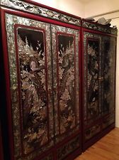 Mother of Pearl Furniture Set of 3 Wardrobes and other pieces