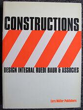 RUEDI BAUR DESIGN INTEGRAL CONSTRUCTIONS GRAPHISME AFFICHE SIGNALETIQUE 1999