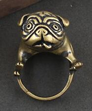 Men's Ring Dog Women's Unique Copper Animal Adjustable Bulldog Pug Unisex