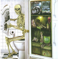 HALLOWEEN DOOR POSTER HORROR BANNER DECORATION GHOST TOILET FRIDGE SPOOKY COVER
