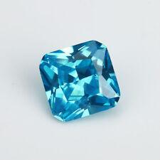 6X6mm AAAAA Sea Blue Sapphire Gem 1.72ct Square Faceted Cut VVS Loose Gemstone