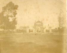 Argentine, La Plata, Place de la Felicia Vintage albumin print Tirage albu