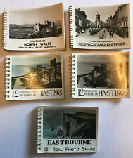 5x Vintage Photo Souvenir Snapshot Books Hastings Wales Keswick Lakes Eastbourne