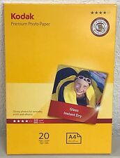 Kodak Premium Photo Paper, Gloss, Instant Dry, 240g/m2, A4 (210x297mm)