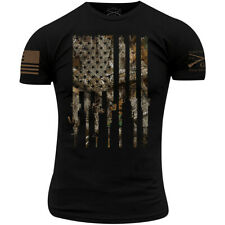 Grunt Style Realtree Edge Rifle Flag T-Shirt - Black