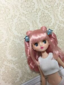 OOAK Custom Licca Doll's head + Micodoll PVC Mico Doll Body Without outfit