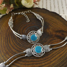 HOT Free shipping New Tibet silver multicolor jade turquoise bead bracelet S54