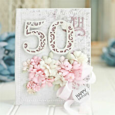 Lace Numbers Metal Cutting Dies Stencil Scrapbooking Die Embossing Paper Card