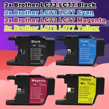 12x Ink Cartridge LC73 LC77 for Brother Printer MFC J6910DW J6710DW J6510DW J432
