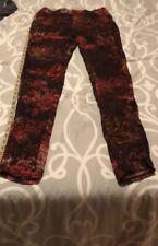 Helmut Lang Womens Size 2 Viscose Red Black Art to Wear Trouser Pants Slacks