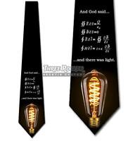 There Was Light Tie Men's Science Equation Funny Neck Ties Brand New