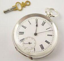 Antique Hallmarked Key Wound Swiss Silver Pocket Watch Case Needs Work   LAYBY