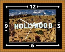 Hollywood Sign Wall Clock Gift Present Christmas Birthday(Can Be Personalised)