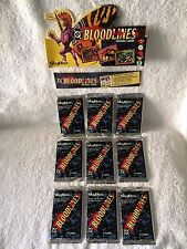 Lot of 9 Packs BLOODLINES (1993 DC) Skybox 8 Cards Per Sealed Pack  NEW!