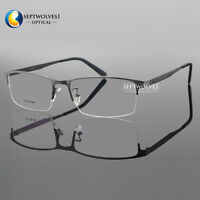 Men Titanium Metal Half Rimless Myopia Eyeglasses Frames Optical Eyewear Rx Able