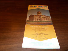 1969 Illinois State-issued Vintage Road Map