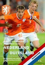 2018 NATIONS LEAGUE QUALIFIER NETHERLANDS HOLLAND v GERMANY A5 PROGRAMME