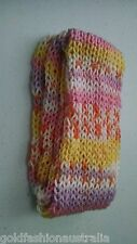 Handmade soft baby by Patons wool Scarf Multi Coloured Knitted