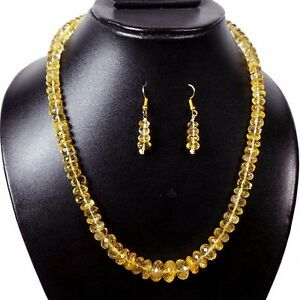 1 Strand Finest Quality Natural Citrine Necklace 5-12mm Untreated Micro CutBeads