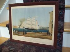 The American Clipper Bark Zephyr Wm Bygrave 1842 Antique