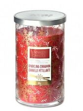 YANKEE CANDLE LIMITED HOLIDAY COLLECTION SPARKLING CINNAMON Pillar 12 Oz. Candle