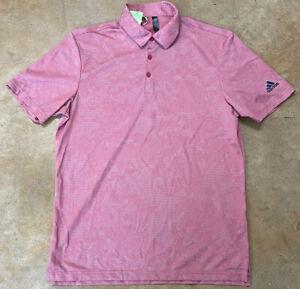 Adidas Golf Primegreen Mens Polo - Short Sleeve - Camo - 3 Button - Medium