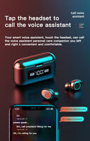 Bluetooth earbuds waterproof TWS 5.0 noise cancelling 2020 wireless headset