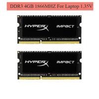 Für HyperX Impact 8GB 16GB 4GB 1866MHz DDR3L PC3L-14900S SO-DIMM Laptop RAM ARDE