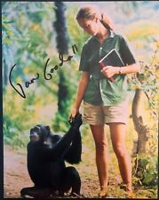 JANE GOODALL SIGNED AUTOGRAPHED 8X10 PHOTO - VERY RARE LEGENDARY APE SCIENTIST A