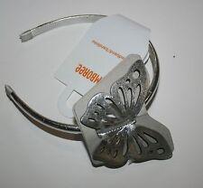 New Gymboree Island Lily Line Metallic Butterfly Headband Hair Accessory NWT