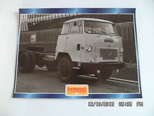 CARTE FICHE CAMION TRACTEUR CABINE AVANCEE UNIC T 270 IZOARD 1967