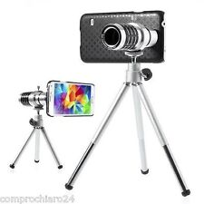 Zoom Optische Tele-objektiv Fotografie 12X mit Stativ für Samsung Galaxy S5