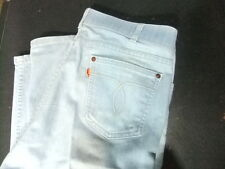 vintage Levis mens jeans 70s orange tab 38x29 With A Skosh More Room light blue