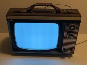 """RCA Vintage 70's Gaming TV Swag 12"""" Television"""