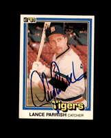 Lance Parrish Hand Signed 1981 Donruss Detriot Tigers Autograph