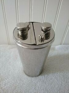 "Vintage 1920's Silverplated German Cocktail Shaker 3 Piece Set   ""Very Rare"""