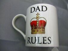 Leonardo Fine China Tea/coffee Mug Dad Rules With Crown Father's Day