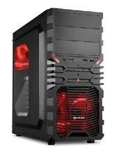 Sharkoon PC Computer Gehäuse VG4-W ATX Midi Tower schwarz/rot - ohne Netzteil