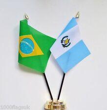 Brazil & Guatemala Double Friendship Table Flag Set