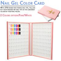 216 Colors Nail Art Tips Display UV Gel Polish Book Chart For Nail Art Salon