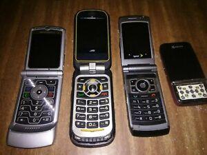 Motorola Brute i686 flip Phone Vintage Cell Phone Razor silver, Lot