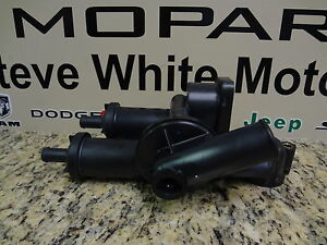 07-14 Chrysler Dodge Jeep Thermostat Housing Adapter Package Mopar Factory Oem